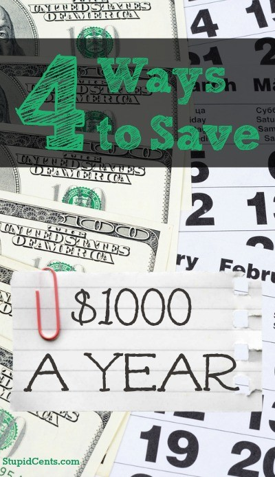 4 Ways to Save $1000 a Year