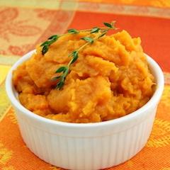 mashed sweet potato