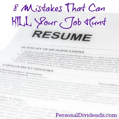 8 Mistakes That Can Kill Your Job Hunt