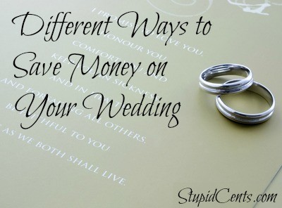 Different Ways to Save Money on Your Wedding